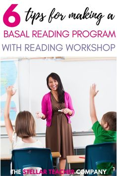 Does your school require you to use a Basal Reading Program? Do you still want to use the reading workshop model? The good news is YOU CAN! I have 6 tips to help you use the reading workshop model with your basal reading program! Teaching 5th Grade, 5th Grade Reading, Help Teaching, Teaching Reading, Guided Reading, Reading Resources, Reading Strategies, Reading Comprehension, Reading Workshop