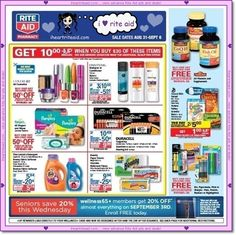 rite aid ad preview for 08/31 - 09/06!  view it here:  http://www.iheartriteaid.com/2014/08/0831-0906.html