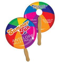 www.ImprintItems.com :: Round Hand Fan