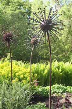 Seed Head (Giant Steel Metal Seed Heads Garden /Yard statues /Sculptur) by David Mayne (Diy Garden Sculpture) Metal Projects, Outdoor Projects, Garden Projects, Diy Projects, Backyard Projects, Metal Crafts, Welding Crafts, Welding Tips, Welding Art