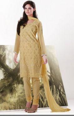 Flavescent Yellow Churidar Kameez