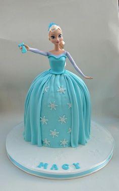 Frozen Elsa Doll Cake by trinidad.bonilla.9
