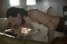 Still of Jonathan Rhys Meyers and Jessica De Gouw in Dracula (2013)