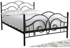 Shop for Seville Metal Bed Frame at ShopStyle. Pink Bedding, Black Bedding, Boho Bedding, Modern Bedding, Quilt Bedding, Bedding Sets, Steel Bed Design, Under Bed Drawers, Wrought Iron Beds