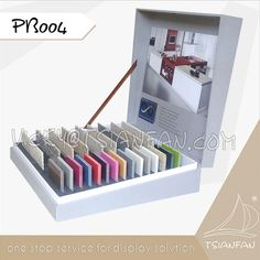 Tsianfan Industrial & Trading Co.,Ltd is the leader of the stone quartz display rack,Stone Sample Book,Mosaic Sample Board.We have more than 10 years of experience in stone display,stone exhibition design,etc. If you need more detail information,pls contact Vicky@tsianfan.com Sample Box, Quartz Stone, 10 Years, Eos, Magazine Rack, Mosaic, Industrial, Display, Detail