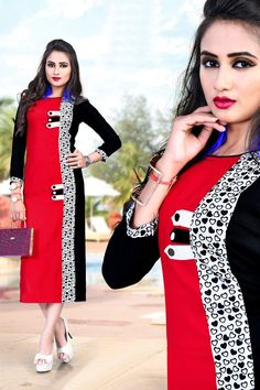 LKFABKART is a wholesale brand supplying and dealing in women ethnic wear garments. Salwar Suit Neck Designs, Neck Designs For Suits, Kurta Designs, Blouse Designs, Fashion Pants, Women's Fashion Dresses, Kurta Style, Kurti Collection, Edwardian Dress