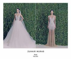 Stunning Zuhair Murad two in one wedding dress! I am enamored with his wedding dresses! ♡♥♡♥