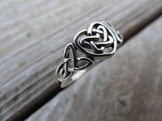 Celtic heart ring in sterling silver by Billyrebs on Etsy, $21.00