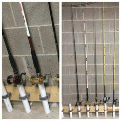 Hang fishing poles on pinterest fishing rods rod rack for Fishing rod holders walmart
