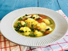 Supă de conopidă cu legume și pătrunjel – Rețetă de post – Chef Nicolaie Tomescu Soup, Ethnic Recipes, Soups
