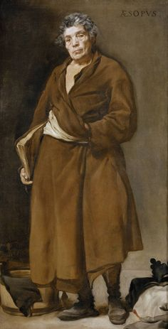 """Esopo"", Diego Rodríguez de Silva y Velázquez. Óleo sobre lienzo, h. 1638"