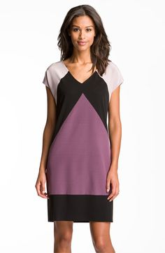 Suzi Chin for Maggy Boutique Chevron Colorblock Mixed Media Shift Dress available at #Nordstrom