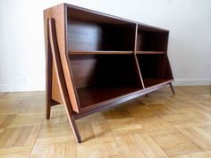 Mid Century Modern Bookcase Bookshelf by ModernRedemption