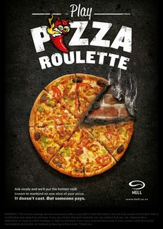 Funny pictures about Pizza Roulette. Oh, and cool pics about Pizza Roulette. Also, Pizza Roulette photos. Pizzeria, Pizza Restaurant, Allo Pizza, Roulette Russe, Pizza Poster, Pizza Chains, Pizza Games, Russian Roulette, Guerilla Marketing