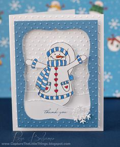 Card using Country Snowman Digital Stamp