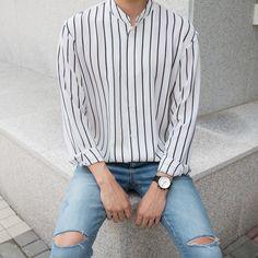 Trendy Mens Fashion, Korean Fashion Men, Ulzzang Fashion, Tomboy Fashion, Streetwear Fashion, Fashion Outfits, Men Style Tips, Style Men, Korean Outfits