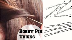 How To : Use Bobby Pins And Hair Pins Correctly So They Are Not Seen/ Easy Tips & Tricks. Watch more Videos On Tips and Tricks Easy Updo Hairstyles, Heatless Hairstyles, Bobby Pin Hairstyles, Party Hairstyles, Wedding Hairstyles, Trendy Hairstyles, Winter Hairstyles, Headband Hairstyles, Hair Puff