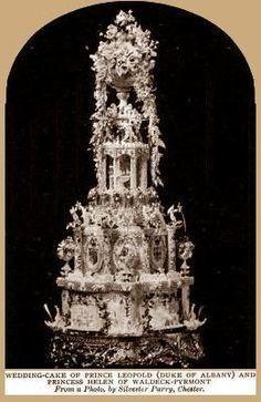 The first wedding cake. tall Wedding Cake of Prince Leopold (Duke of Albany) and Princess Helen of Waldeck-Pyrmont, April Tall Wedding Cakes, Extravagant Wedding Cakes, Wedding Cake Toppers, Cake Wedding, Red Wedding, Royal Brides, Royal Weddings, Vegas Weddings, Las Vegas Cake