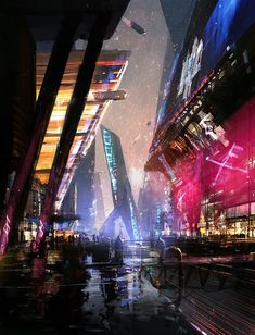 Cityscape, Mikael Widegren on ArtStation at https://www.artstation.com/artwork/cityscape-96b8daf2-0187-49e4-83b1-1252adb20ff2