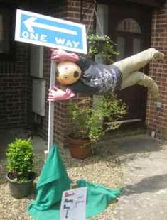 Strong Winds at the Scarecrow Festival