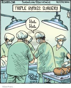 The Comic Strips - Dan Piraro :: Bizarro :: :: Image Number: 119932 :: Triple Bypass Surgery.