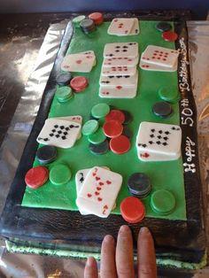 50th Birthday Poker Cake - Kreative Kupcakes Bakery
