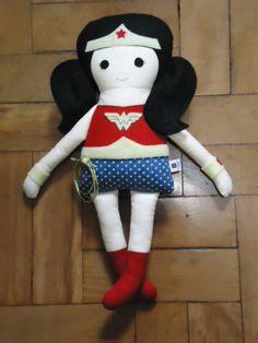 Wonder Woman - Fabric Rag Doll