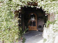 Door with vine.