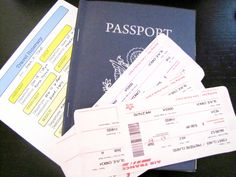 Passport/ stamps/ tickets/ itinerary printables (FREE)