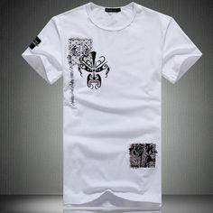 2013 male summer short-sleeve T-shirt chinese style peking opera 100% cotton o-neck men's plus size clothing male short-sleeve