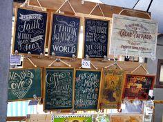 Design boards on sale at the Mercado de Motores in Madrid