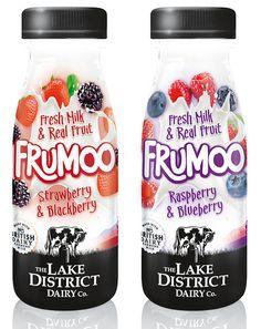 Frumoo Fresh Milk & Real Fruit Drinks Source by twjr Yogurt Packaging, Dairy Packaging, Ice Cream Packaging, Milk Packaging, Craft Packaging, Beverage Packaging, Bottle Packaging, Packaging Design, Label Design
