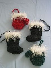Ravelry: Santa Boots & Mittens Gift Card Holder or Ornament pattern by Donna Collinsworth