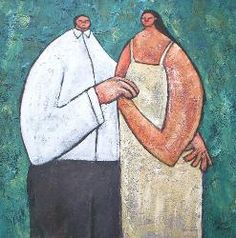 Bryce Brown: Old time dance (2003, 80x80cm)