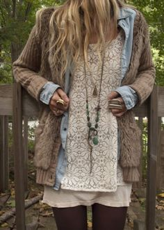 Fall & Winter Fashion - boho layering