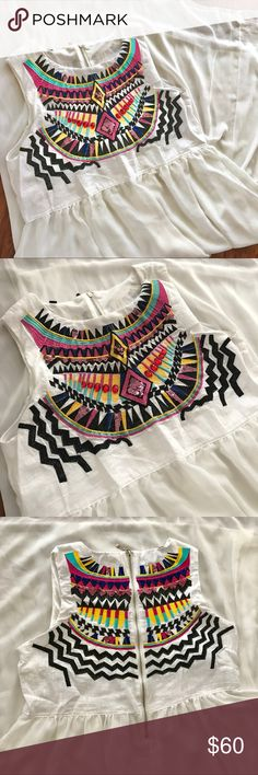 Embroidered Peasant Boho Gypsy Maxi Dress Tribal🌸 White Embroidered Peasant Dress Boho Angel Sleeveless Dress Gypsy Tribal🌸 fits large New Without Tags! (not free people***) unbranded Dresses Maxi