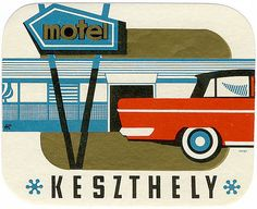 mid-century luggage labels - these make traveling that much more grand