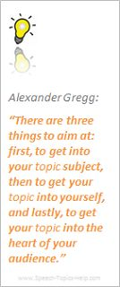 Alexander Gregg public speaking quote