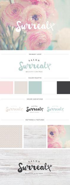 Salon Surreal | Tied & Two | Salon Logo | Logo Design | Rustic Logo Design…