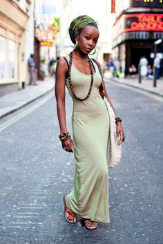 this is a pretty and generic version of my style... very monochcomatic, long and feminine with very natural/earthy/spirited accessories.... simple but elegant