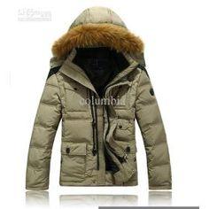 HOT Fur Collar Man's Down Coat Winter Warm Down Jacket For Men Outwear Down,90%white duck down on TradeTang.com