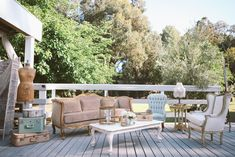 charming French sofa and lounge area at Calamigos Ranch | Pretty Vintage Rentals