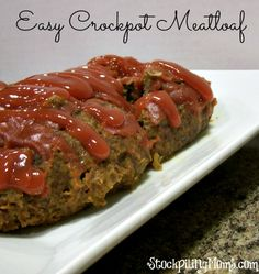 Easy Crockpot Meatloaf Recipe – The Best Dinner for busy nights! Easy Crockpot Meatloaf Recipe – The Best Dinner for busy nights! Slow Cooker Recipes, Beef Recipes, Cooking Recipes, Easy Recipes, Weekly Recipes, Curry Recipes, Cooking Ideas, Vegetarian Recipes, Recipies