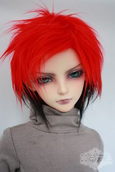 1/3 1/4 1/6 BJD Wigs hot sell Fashion red bjd sd short curly wig for DIY dollfie