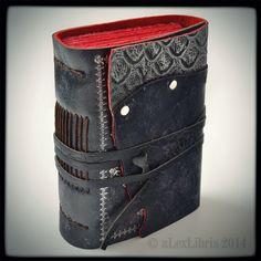 The Black Traveler Leather Journal, 5 x 4 inches by alexlibris999.deviantart.com on @deviantART