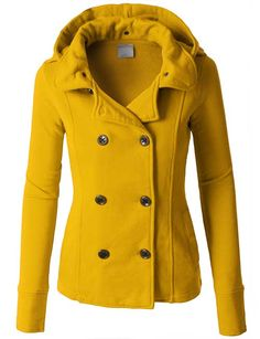 Cannot wear mustard by my face, and I often do coats in a large.  Love the way this nips in at the waist.