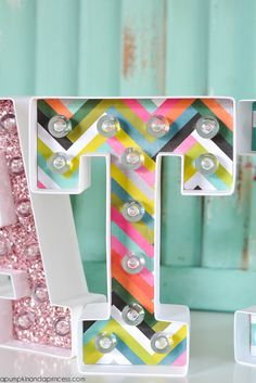 DIY Marquee Letters - A Pumpkin And A Princess