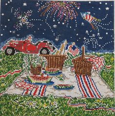 Fourth of July!! Cooper Oaks Design at Po's Point Needepoint