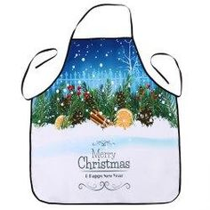 #Gamiss - #Gamiss Christmas Snowscape Print Waterproof Cooking Apron - AdoreWe.com