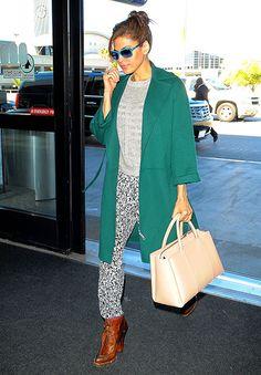 Eva Mendes in Max Mara coat Eva Mendes b23b41d895d